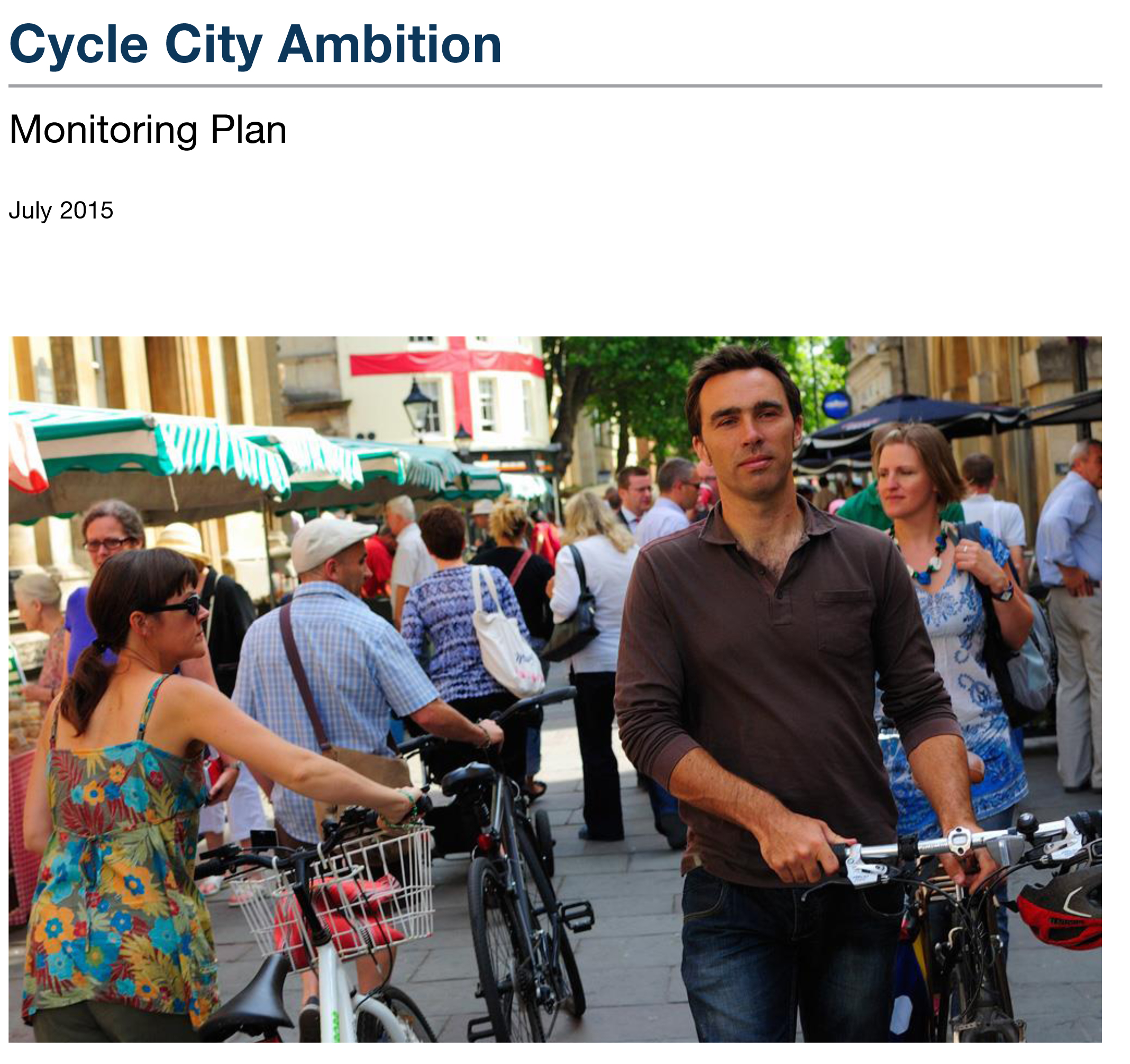 Cycle city ambition grant monitoring plan