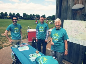 Some of our members running an information stall
