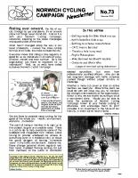 Newsletter 73 – Summer 2009