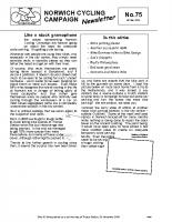 Newsletter 75 – Winter 2009