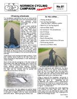 Newsletter 81 – Summer 2011