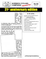 Newsletter 82 – Autumn 2011