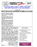 Newsletter 83 – Winter 2012