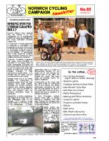 Newsletter 85 – Summer 2012
