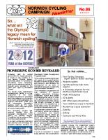 Newsletter 86 – Autumn 2012